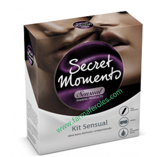 Aquilea Secret Moments Kit Sensual Bala Vibratoria Antifaz Lubricante Farmaferoles