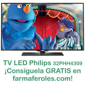 Sorteo de una TV LED de 32 pulgadas para el día de la Fiesta Nacional Española