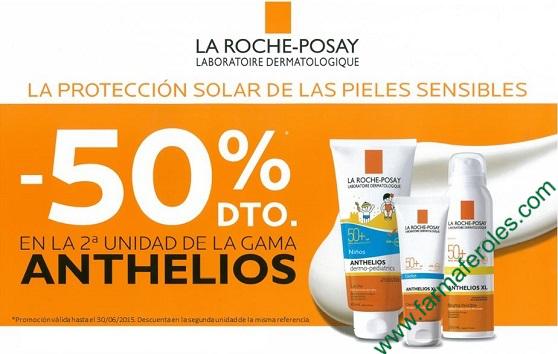 50% de Descuento en Solares Anthelios de La Roche Posay