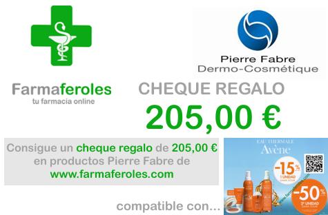 ¡Sorteo de Cheque Regalo por 205,00 € en productos Pierre Fabre!