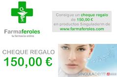 ¡Sorteo de Cheque Regalo por 150,00 € en productos Singuladerm!