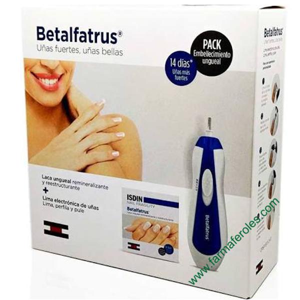 Betalfatrus Pack Laca Ungueal 3,3ml + Lima de Uñas Electrónica ...