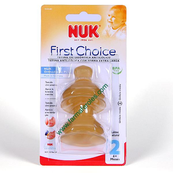 Nuk First Choice+ Pack de 2 tetinas de l/átex T2-M