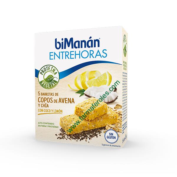 Bimanan entrehoras 5 barritas de copos avena y ch a con coco y lim n farmaferoles - Copos de avena bruggen ...